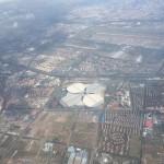 上海国家会展中心(空から)